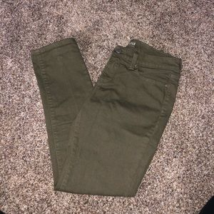 Olive Green/Tan Jeans
